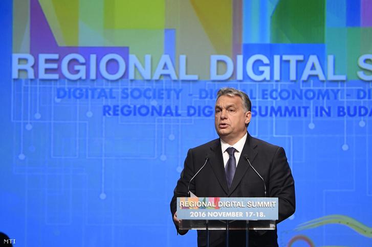 Orbán Viktor a Regionális Digitális Konferencián, 2016. november 17-én.