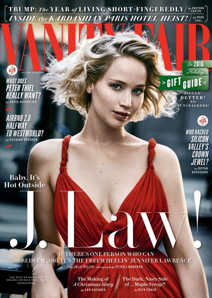 Jennifer Lawrence friss Vanity Fair-címlapja.