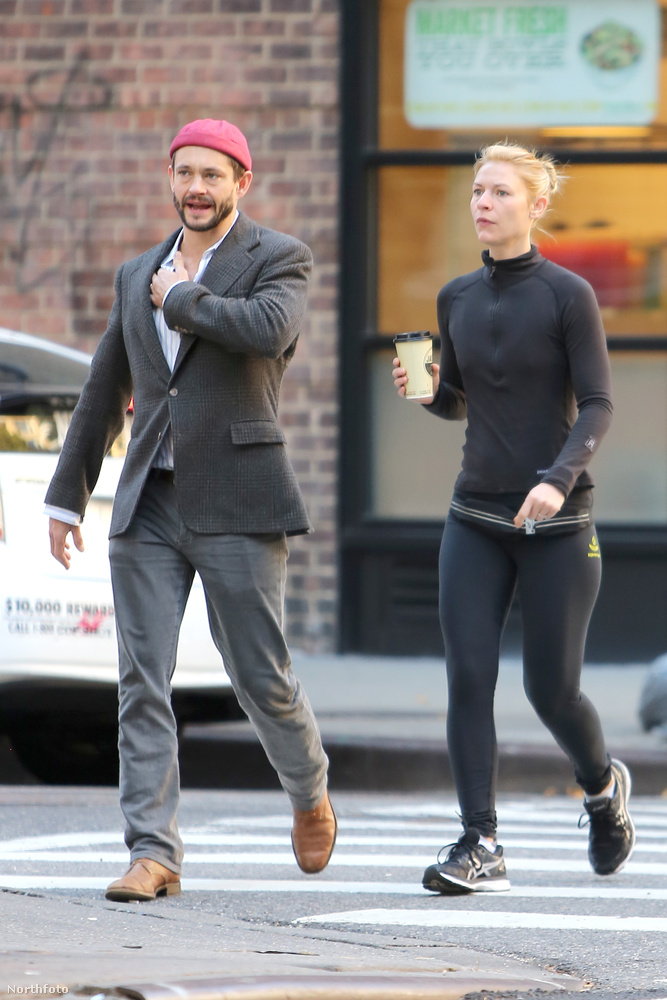 A szintén színész férjével, Dancyvel New York-ban sétálgattak