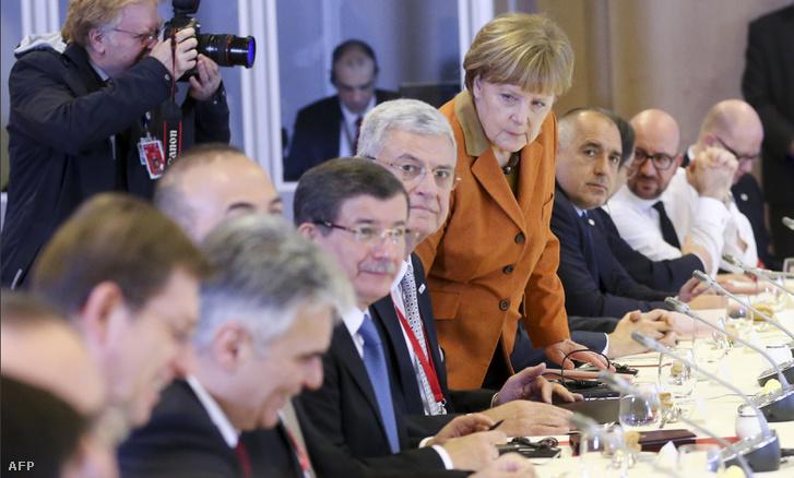 Török-EU csúcs Brüsszelben, 2016. március 7-én.