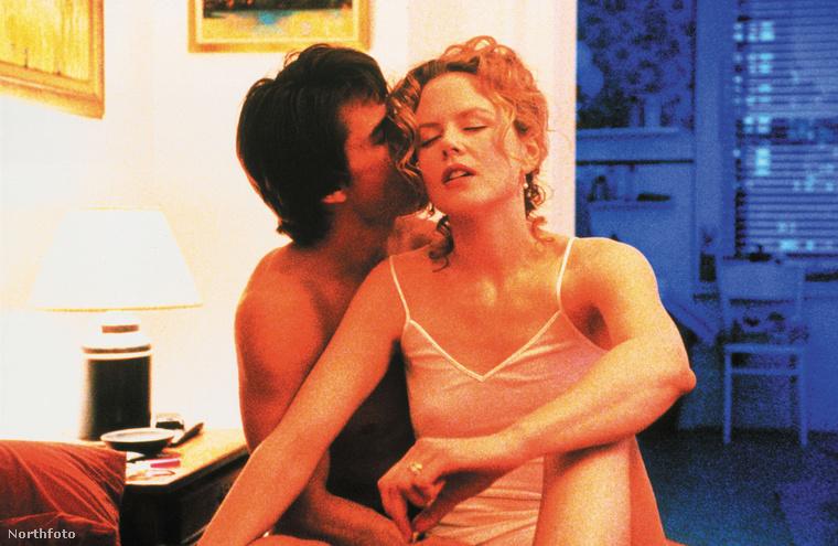 Tom Cruise és Nicole Kidman a Tágra zárt szemek című filmben.