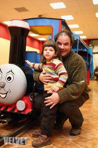 Kálloy Molnár Péter és kisfia