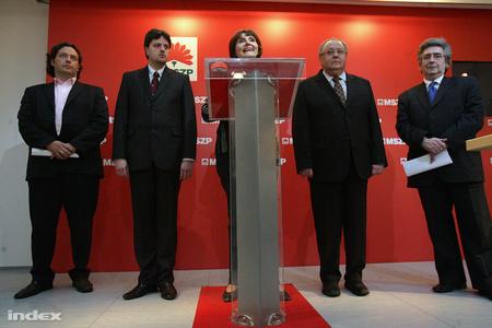 Hatvany Csaba, Bárándy Gergely, Lendvai Ildikó, Avarkeszi Dezső és Szabó Zoltán