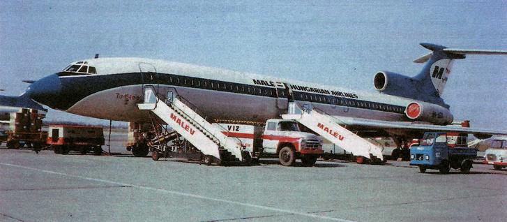 A Varsóban eltérített MALÉV gép, 1980-ban Ferihegyen.