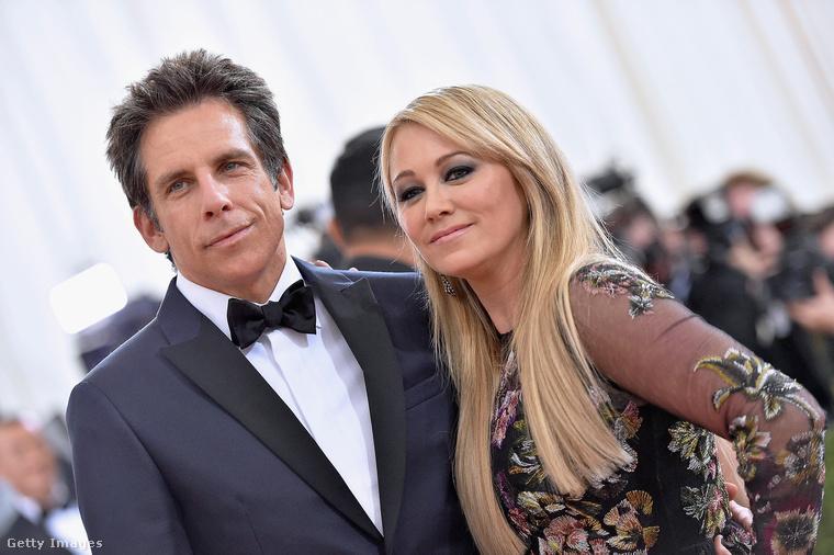 Ben Stiller és felesége, Christine Taylor