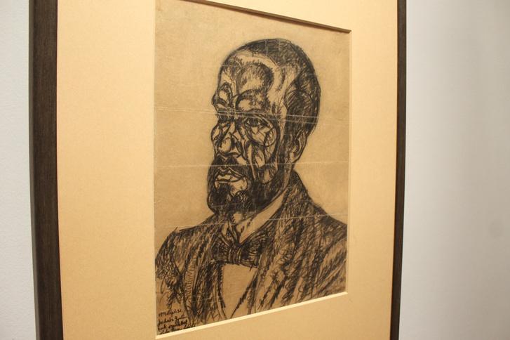 Moholy-Nagy László: Juhász Gyula portréja a szegedi Móra Ferenc Múzeum tárlatán