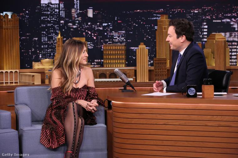 A színésznő Jimmy Fallon műsorában vendégeskedett.