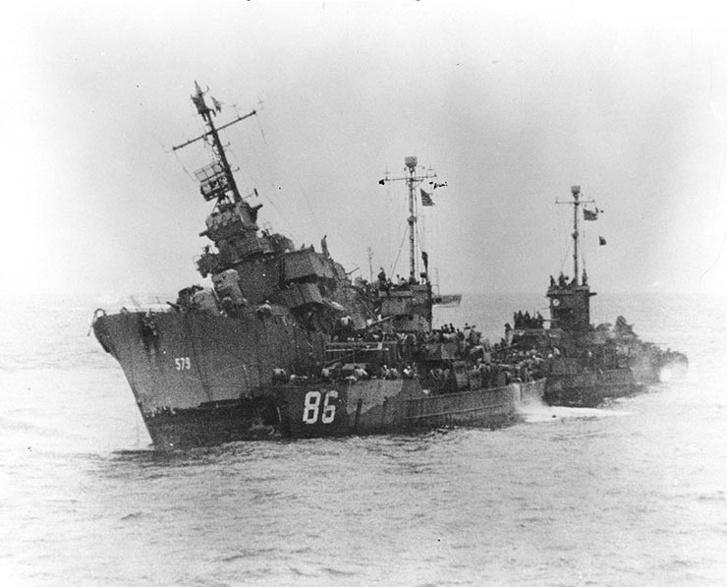 USS William D. Porter (DD-579) sinking