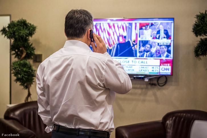 Egy fotó Orbán Viktor Facebook-oldaláról az amerikai elnökválasztás eredménye után.