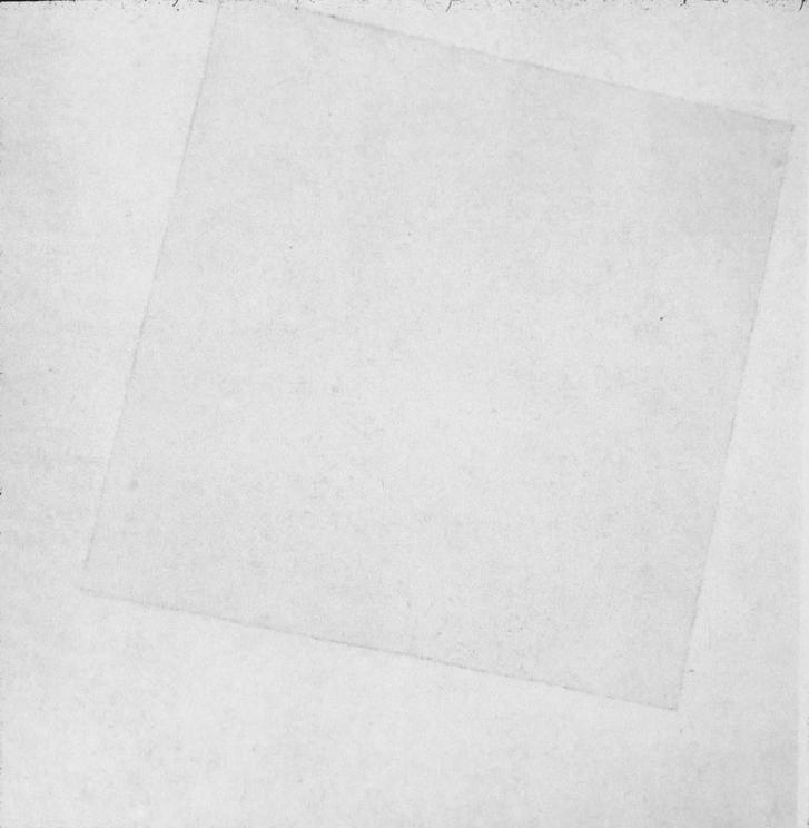 Malevics: Fehér alapon fehér négyzet (forrás: 66.media.tumblr.com)