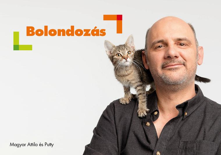 Magyar Attila már a stúdióban megszervezte                         egy kutya és egy cica örökbefogadását.
