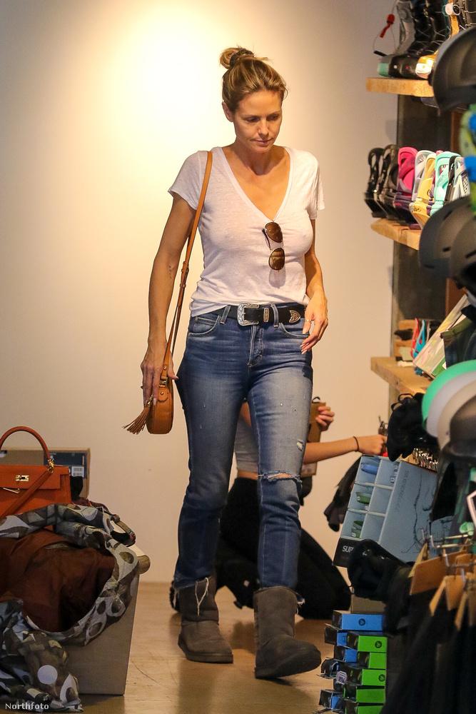 Heidi Klumon a többiekkel ellentétben volt ruha, de nem elég.