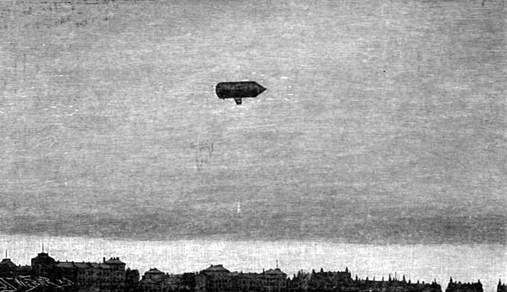 A Vasárnapi Újság 1897. 52. számában megjelent grafika repülés közben ábrázolja a Schwarz-féle léghajót