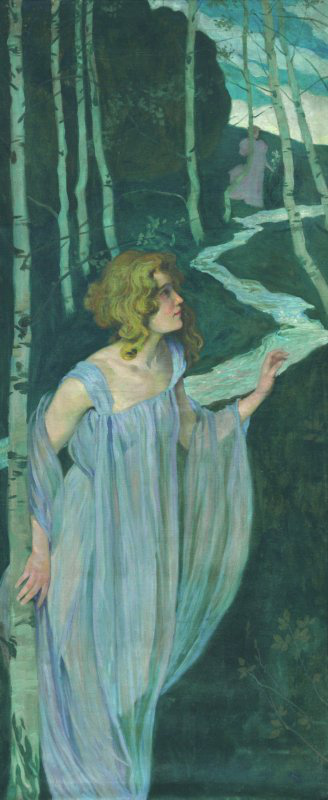 Josef Maria Auchentaller: Fürdőző tündér (1898-99)