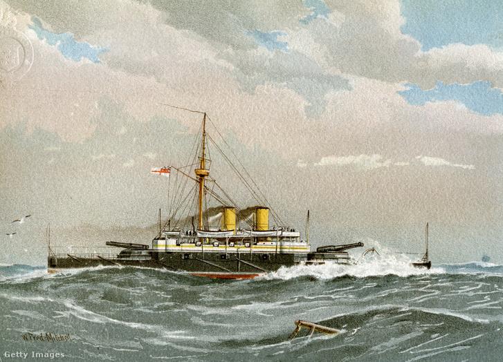 Brit hadihajó az 1890-es évekből