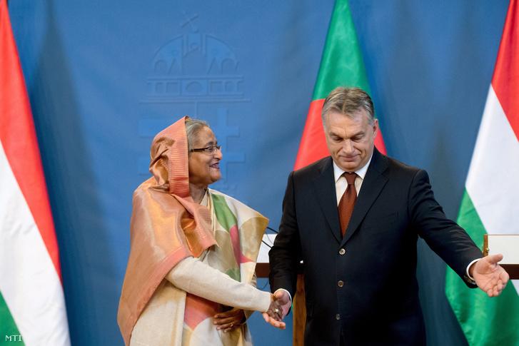 Sejk Haszina Vazed, Banglades miniszterelnöke és Orbán Viktor