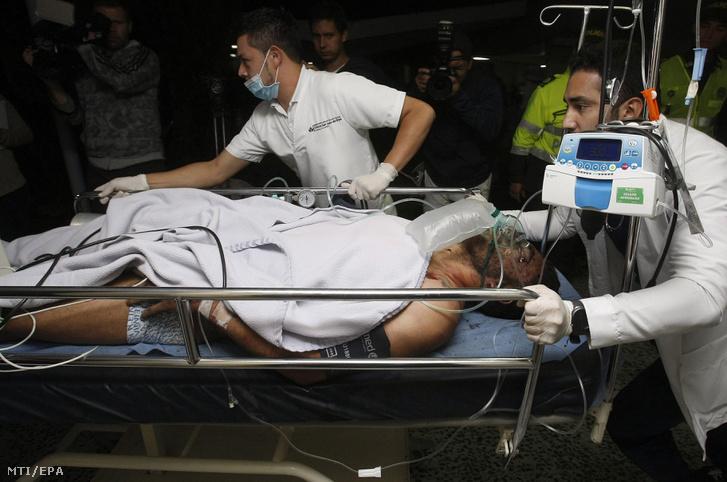 Alan Ruschel brazil labdarúgó az első túlélő, akit kórházba szállítottak