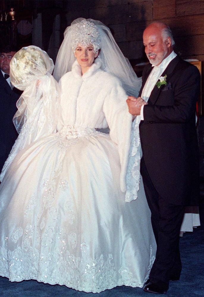 Céline Dion szintén a 90-es évek derekán ment hozzá René Angélilhoz.