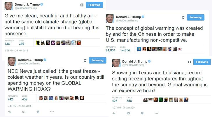 Néhány hírhedt Trump twit