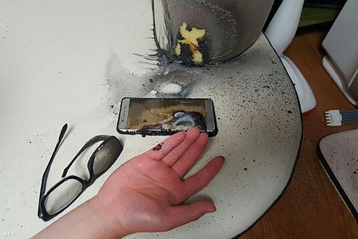 Felrobbant Samsung Galaxy Note 7