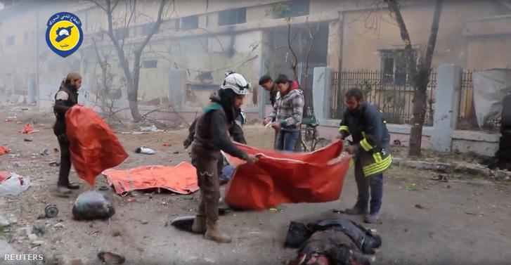 Jelenet egy videofelvételből, ami november 30-án készült a legutóbbi támadás után.
