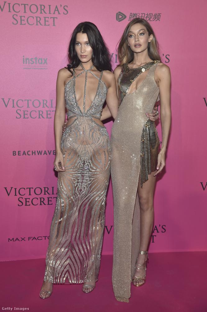 Az este folyamán két Hadid is kifutóra léphetett - Bella és Gigi Hadid.