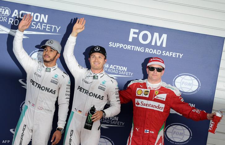 Hamilton, Rosberg és Raikkönen