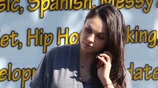 Mila Kunisnak szép nagy a hasa, meg is mutatjuk