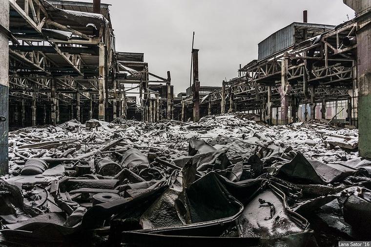 A gyár nagy részében már egyáltalán nincs élet
