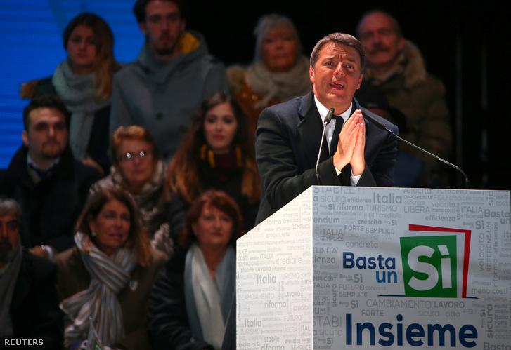 Matteo Renzi a kampány utolsó napjaiban