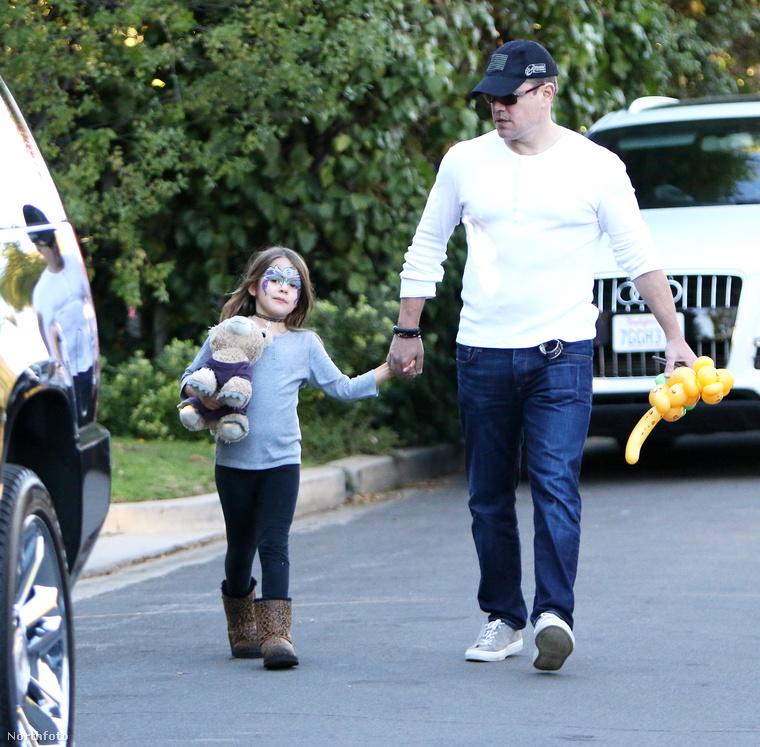Matt Damon és kislánya, Stella pazar szombatot töltött együtt december 3-án