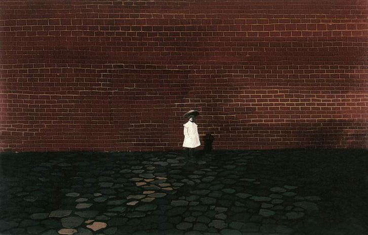 Kislány fal előtt (1955)
