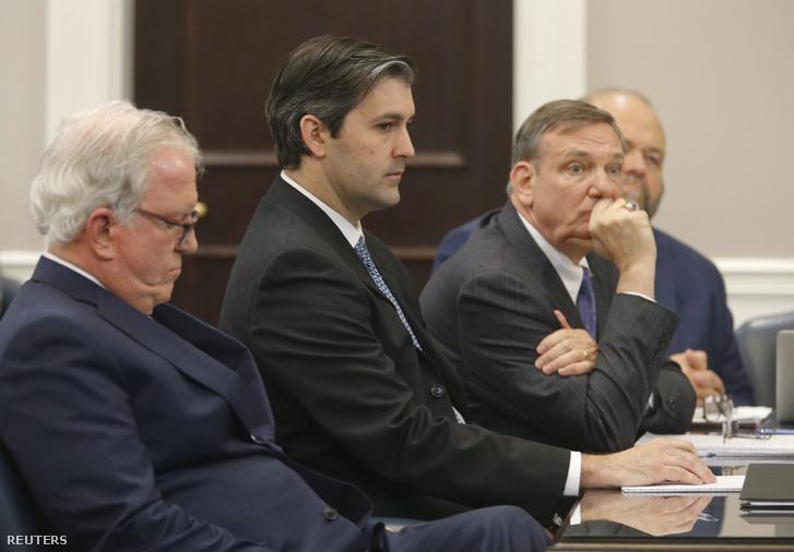 Michael Slager a tárgyaláson.