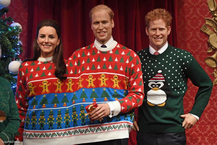 Vagy aKÖZÖS PULCSIT (!)viselő katalin és Vilmos, esetleg Harry herceg, aki ebben a pingvines pulcsiban eléggé markdarcy-s?