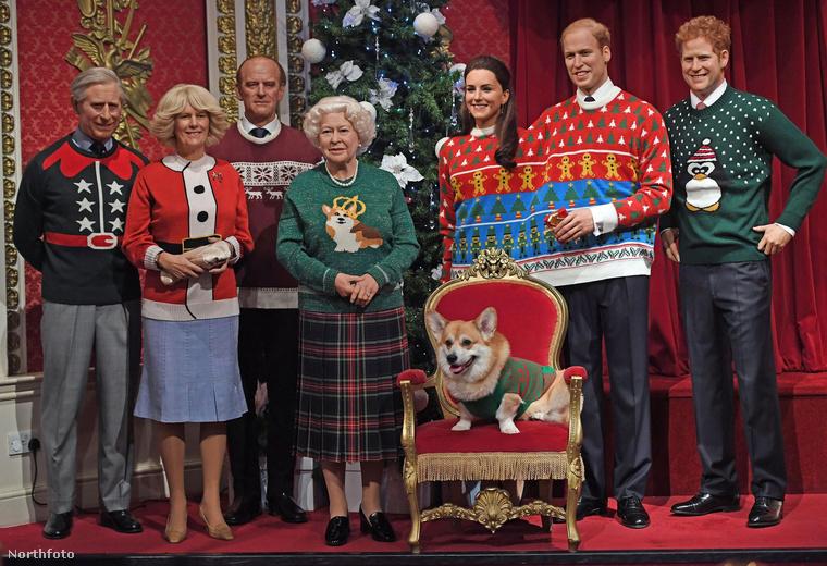 Jó, nem feltétlenül egyetlen kép, de egyetlen beállítás - a szereplők ugyanis képtelenek mozdulni, mivel viaszból vannak.A londoni Madame Tussauds ugyanis megformázta a brit királyi családot viaszból, méghozzá karácsonyi hangulatban...