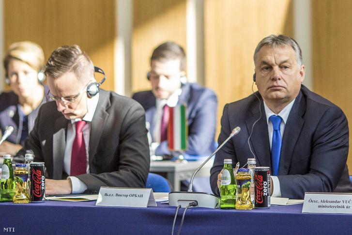 Szijjártó Péter és Orbán Viktor