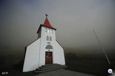 A vulkán környékén sötétségbe borult a vidék.