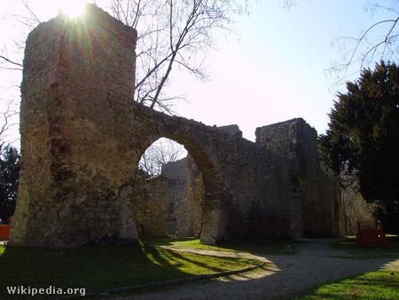 A tettyei romok a megsüllyedés előtt (fotó: Wikipedia)