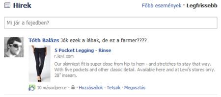 Így néz ki a Facebookon