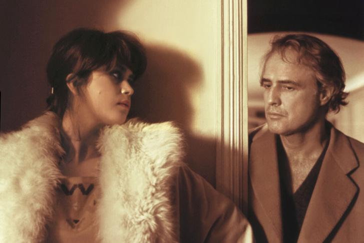 Maria Schneider és Marlon Brando az Utolsó tangó Párizsban című film forgatásán
