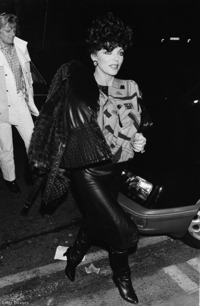 Joan Collins 1985-ben, 52 évesen is elképesztő dögös volt.