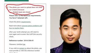 Ennek az ázsiai férfinak a szemére még nem készült fel a rendszer