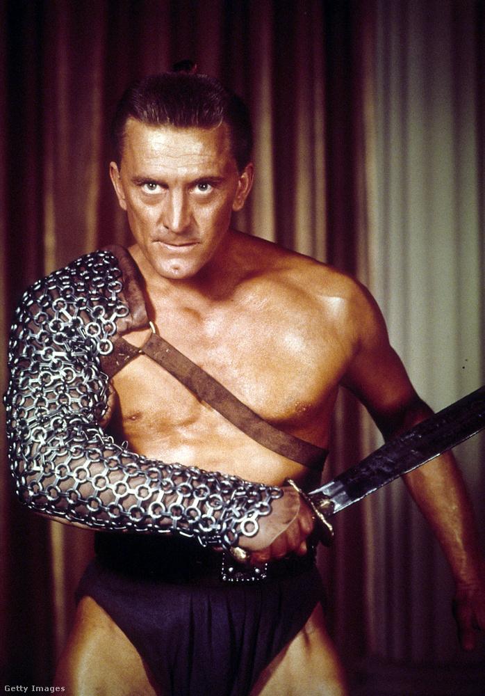 Kirk Douglas az egyik leghíresebb szerepében, a Spartacusban