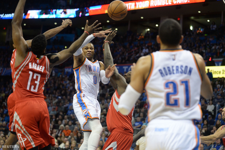 Westbrook a Houston Rockets vs Oklahoma City Thunder meccsen