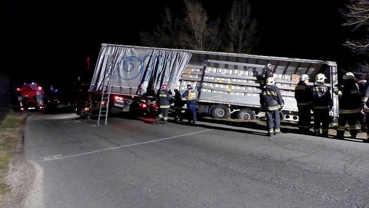 Képünk a baleset helyszínén készült.