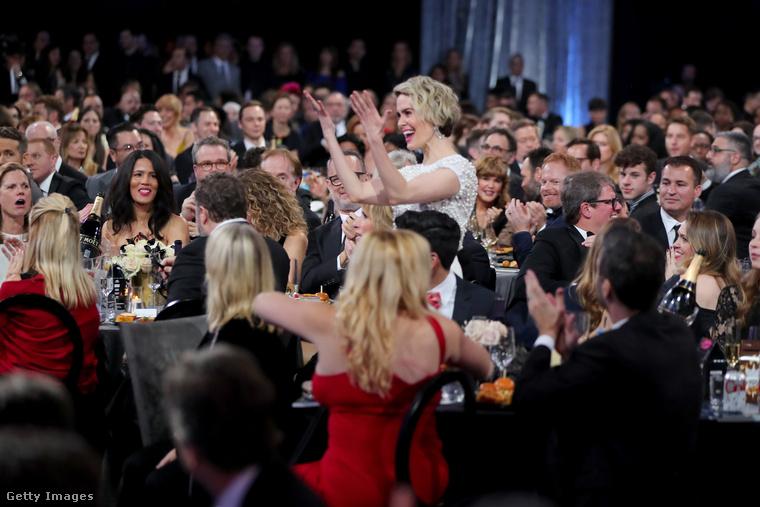 Sarah Paulson ennyire örült a díjának, amit az O.J
