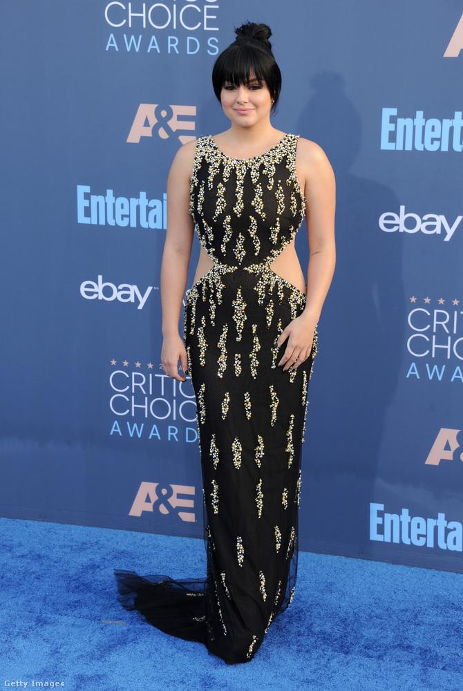 És ugyanilyen sérója volt Ariel Winter színésznőnek a Critics' Choice gálán