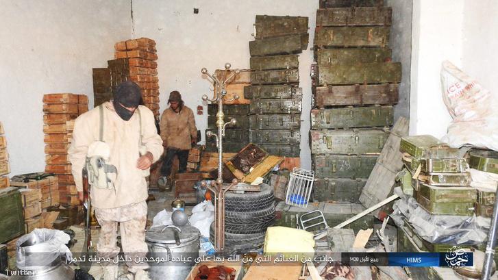 Az Iszlám Állam fegyverraktára Palmürában