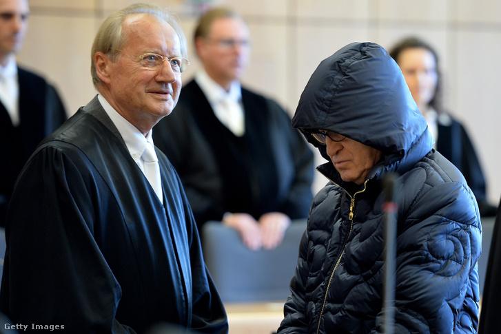 Werner Mauss a bíróságon 2016. szeptember 16-án
