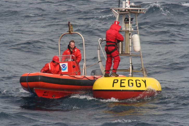 Hasonló meteorológiai bója mérte a rekorder hullámot